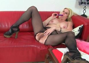 British milf Tori loves her easy institution hose