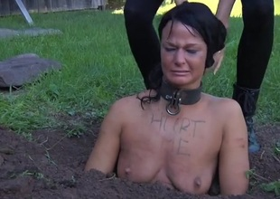 Collared girl buried in slay rub elbows with dirt and humiliated