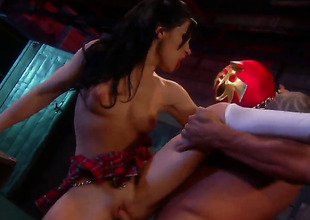 Rebeca Linares gets an anal gangbang