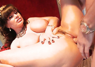 Lisa Ann with juicy breasts loves will not hear of Mick Blues ram rod in this anal scene