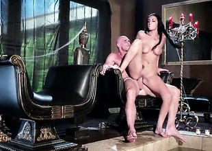 Johnny Sins gets his always enduring love wand eaten by Amber Cox