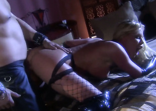 Amazingly hot prostitute Nicole Sheridan needs nothing but sperm on her face to be happy