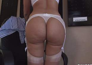 Hot bodied sexy MILF Mercedes Carrera in white underware is proud of her perfect ass. She pulls of fher wheeze crave and then spreads her buns for your viewing entertainment