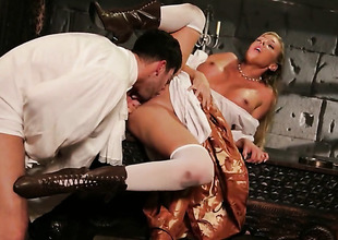 Samantha Saint is desperate for man goo