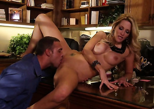 Jessica drake and hot dude are so gender sweltering in this dick sucking action