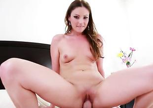 Oriental Samantha Ryan gets impaled on Jordan Ashs meat audition