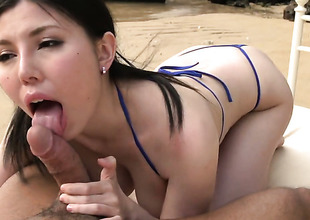 Sofia Takigawa receives wedge drilled to death by lewd dude