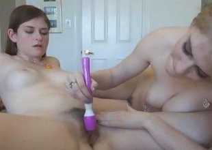Lara Brookes Allie James pussy grinding