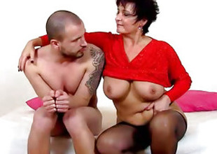 A boy compulsory to pussy licking by lady Greta