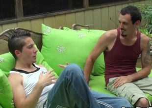 A guy fucks his homosexual boyfriend in his mouth then his booty