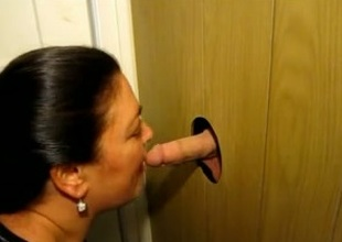 A homemade gloryhole cabin be required of my chubby brunette wife