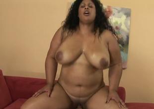 Fat Latina hoe Delilah Black gets her big love tunnel hammered well
