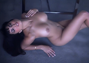 Alluring brunette hair bitch with great doing away with Prominently Leone goes wild on the floor