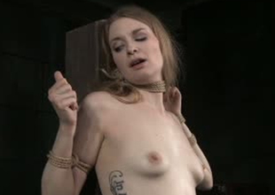 Pale skinned bitch Ela Lover is toy fucked in Sadomasochism porn video