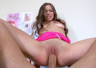 Young doctor Tiffany Starr copulates her big cock patient