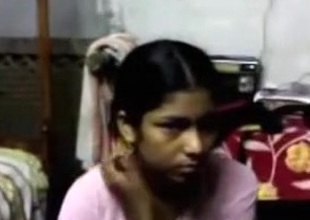 Indian beggar makes out with a maid and licks her natural tits