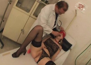 Kinky doctor enjoys teasing and fucking a hot kermis nympho