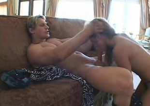 Playful blonde with a charming arse and lovely tits has a stud near banging her holes