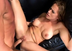 A great blonde housewife gets a stranger's hot dick inside her