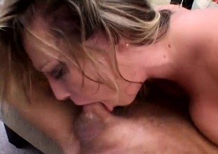 Harmony Rose opens wide to start sucking on a valiant lollipop