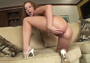 Well-endowed black dude shows a saucy golden-haired get under one's time of her gambol