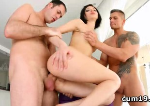 Lina Arian choked and ass hammered in group