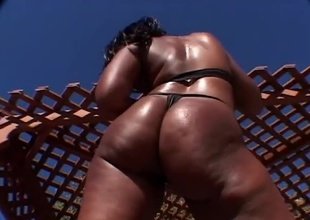 I don't know about you guys...but one of the things I like about Justin Slayer is that he knows how to pick some fine ass sluts! In this scene he's with his chum Boz and they are pounding away at Skyy Black's tight ebony pussy! They fuck this whore good an