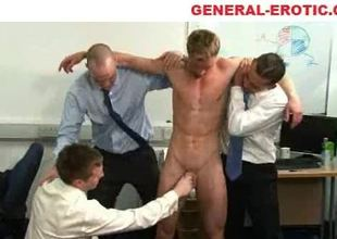 Office sex with tugjob