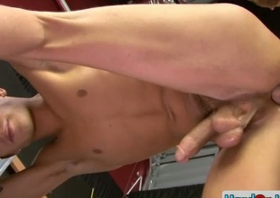 Amazing gay smile radiantly gets ass fucked hard