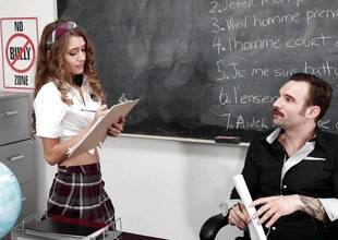 Rebel Lynn comes onto the brush teacher