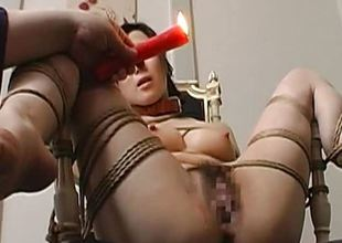 Toy screwed frolic up and pussy waxed