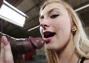 Alexa Grace has interracial sex