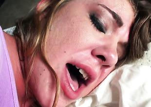 Anna Bell receives an anal gangbang