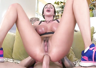 Amazing Lalin girl brunette Ariella ass fucked