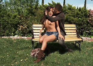 Yummy hottie Kaylani Lei has oral-stimulation undertake be proper of her lifetime with hard cocked dude
