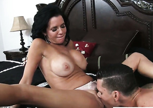 Clover pops out his tool to fuck making love starved Veronica Avluvs cunt
