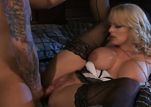 Undisciplined Daniels has fire in her eyes as that babe gets her throat fucked by her bang subsidiary