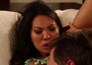 Super hot east woman Asa Akira gets her malignant gap licked and her neatly trimmed muff fucked by her horny as Avernus fuck buddy. Nothing can stop him from penalty her tight exotic gap