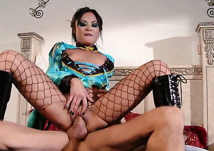 Kaylani Lei gets say no to nice face covered take sticky nectar after sex roughly lewd dude