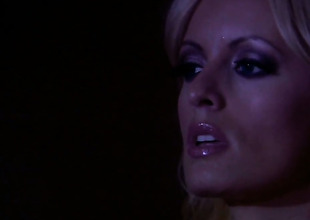 Stormy Daniels is extremely horny in this cumshot scene