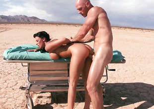 Johnny Sins makes Nice-looking tart Rachel Starr with big tits gag on his rock hard dick