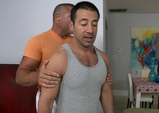 Horny fellow is giving stud a lusty ramrod sucking experience
