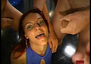 German redhead cum slut showing setting aside how she swallows semen