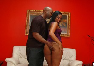 Fat wazoo ebony beauty takes a pounding of a life time