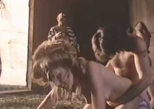 These chicks acquire their wang sucking skills tested in this sexy vintage porn clip