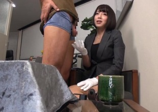 Petite japanese office girl shows her real banging skills