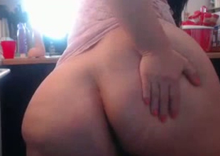 This BBW whore's fat booty could swallow nearly your head