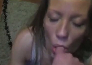 Horny MILF is always excited about demonstrating her blowjob skills