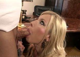 Immaculate office girl gets a surprise have sexual intercourse visit from her dude hardcore
