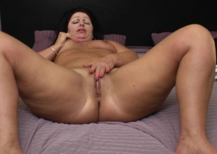 Big mama playing with will not hear of pussy
